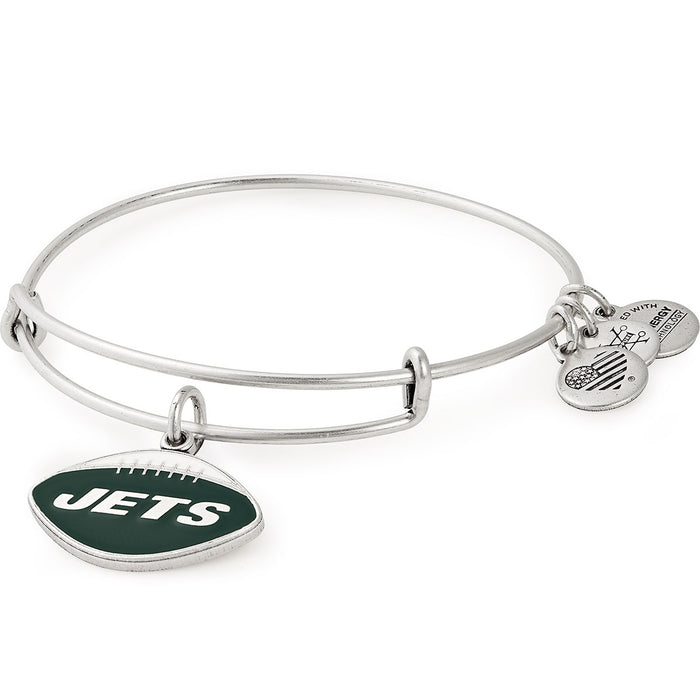 Alex and Ani New York Jets Football Color Infusion Charm Bangle