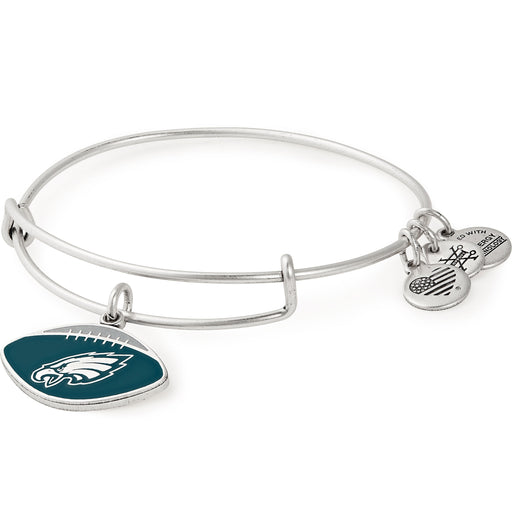Alex and Ani Philadelphia Eagles Football Color Infusion Charm Bangle