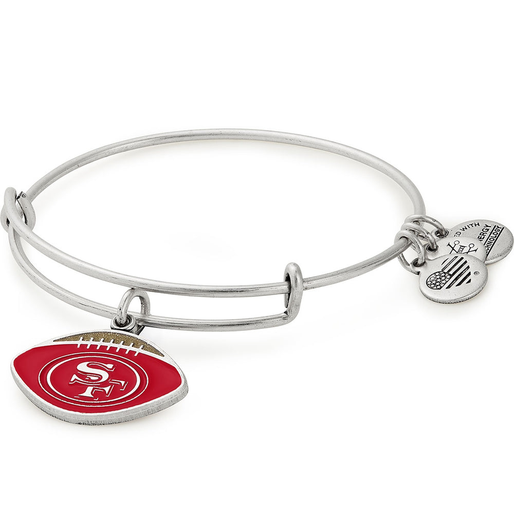 Alex and Ani San Francisco 49ers Football Color Infusion Charm Bangle
