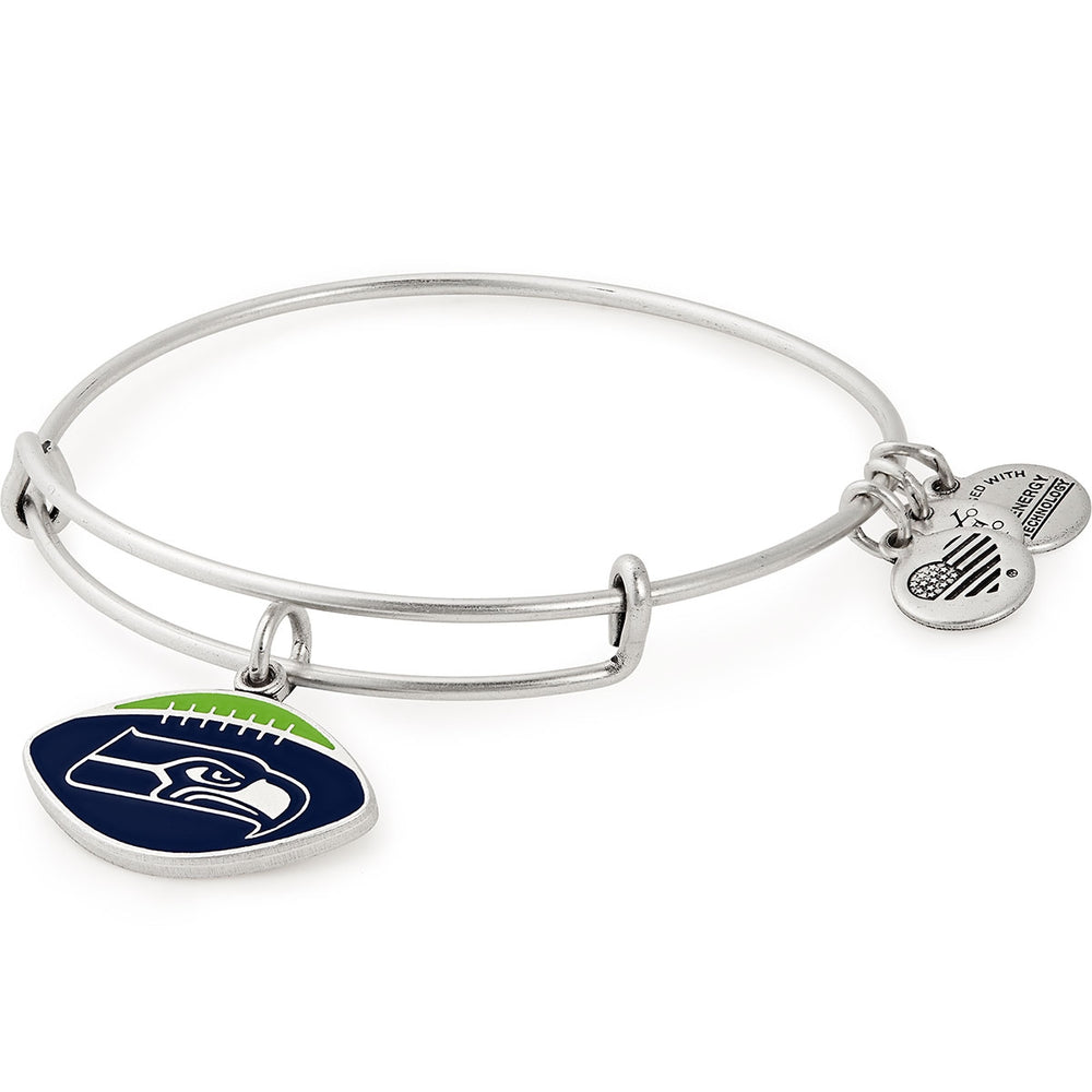 Alex and Ani Seattle Seahawks Football Color Infusion Charm Bangle