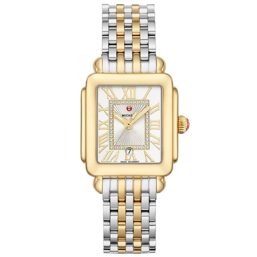 Michele Deco Madison Mid Two-Tone Diamond Dial Watch