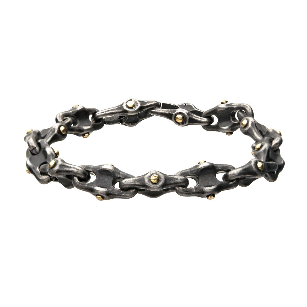 INOX Stainless Steel Antique Distressed Mariner Chain Bracelet