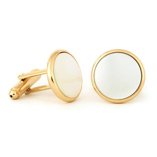 Radius Edge Mother of Pearl Cuff Links