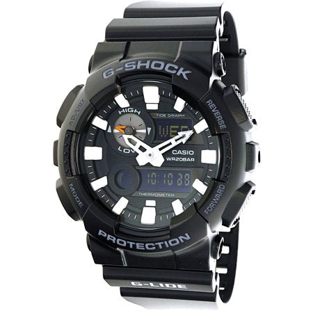 Known for its popularity among athletes such as surfers, this G-Shock lives up to this fame by offering the best of the analog and digital displays as well as very visible hands that make keeping track of anything easy on the go. The all black look gives focus to the face and also makes the big classic G-Shock design an element of sleekness.