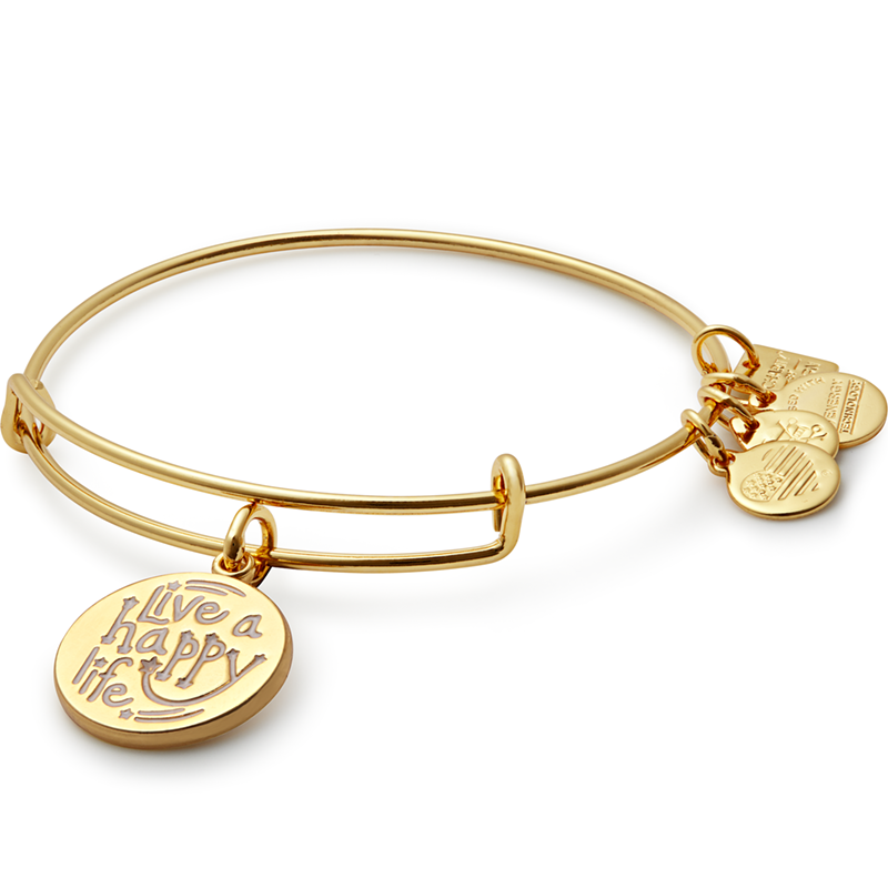 Alex and Ani Live a Happy Life Charm Bangle | Joe Andruzzi Foundation