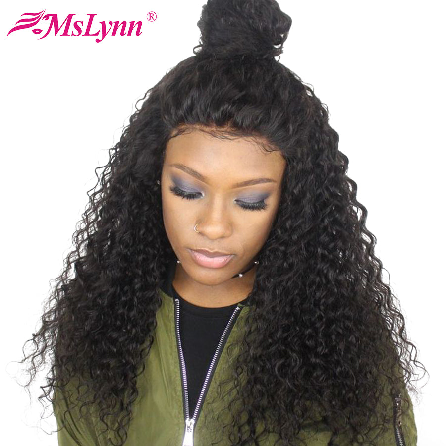 Lace Wigs Deep Wave 360 Lace Frontal Wig For Black Women Lace Front Wig Curly Human Hair Wigs Ruiyu Brazilian Remy Wig Baby Hair Human Hair Lace Wigs