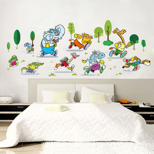 Wandtattoo Cartoon Kinderzimmer Comic Figuren