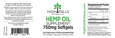 Hemp Oil Supplement Softgel