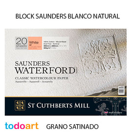 Block Saunders 300grs.Grano SATINADO. Color Natural