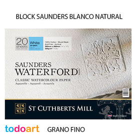 Block Saunders 300grs.Grano FINO. Color Natural