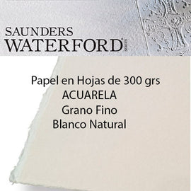 Papel Saunders 300grs.Grano FINO. Color Natural