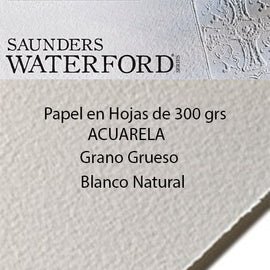 Papel Saunders 300grs.Grano GRUESO. Color Natural