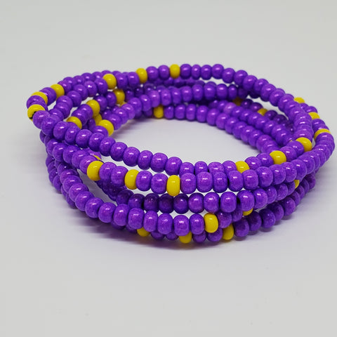 Purple Lemonade Waist Beads