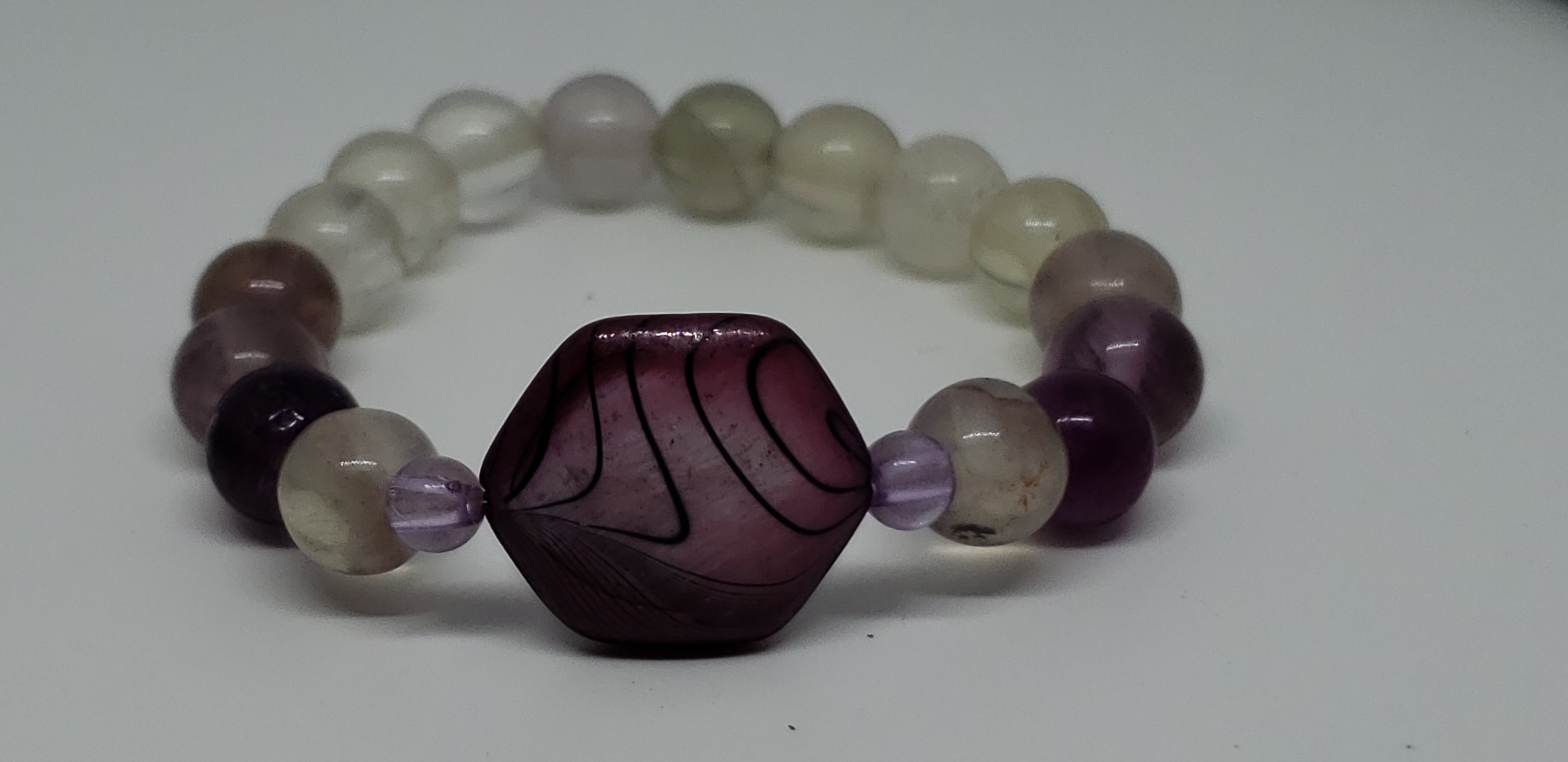 "Purple Swirl : 4"" Small Hand Made Energy Jewelry"
