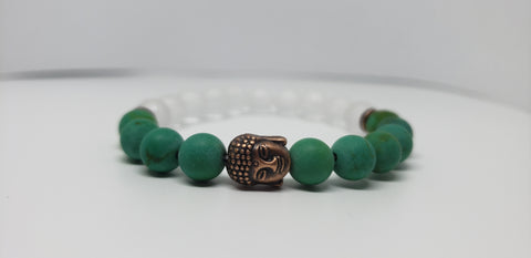 Turquoise and quartz Buddha(tara)