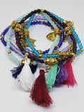 Charm and Tassels beaded bracelets (6)