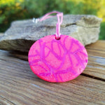"Pink Stone: 11"" Polymer Clay