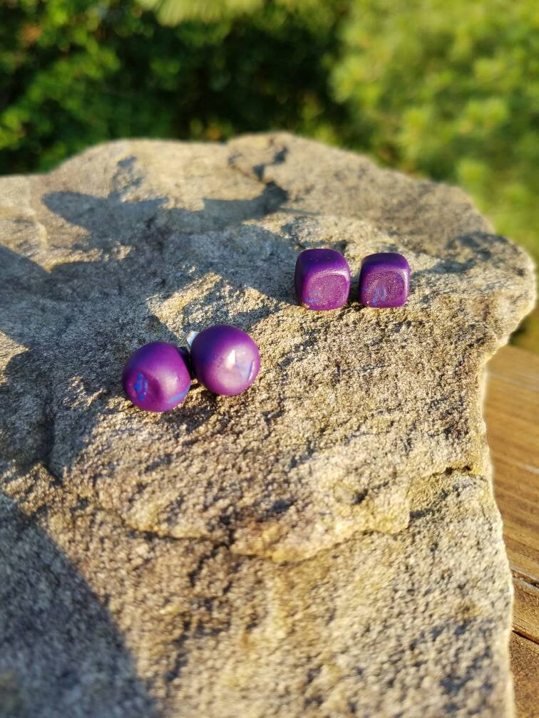 Polymer Clay Studs| Stud Earrings|PolyClay Gauges|Statement Earrings| Handmade|Hand Crafted