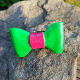 Pretty Pink & Green Bow
