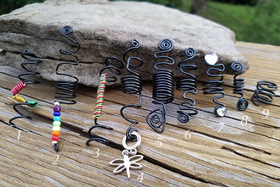 Hair Adornments|Loc Jewelry|Spiral Minis Hair Cuffs|Handmade Hair Jewelry|
