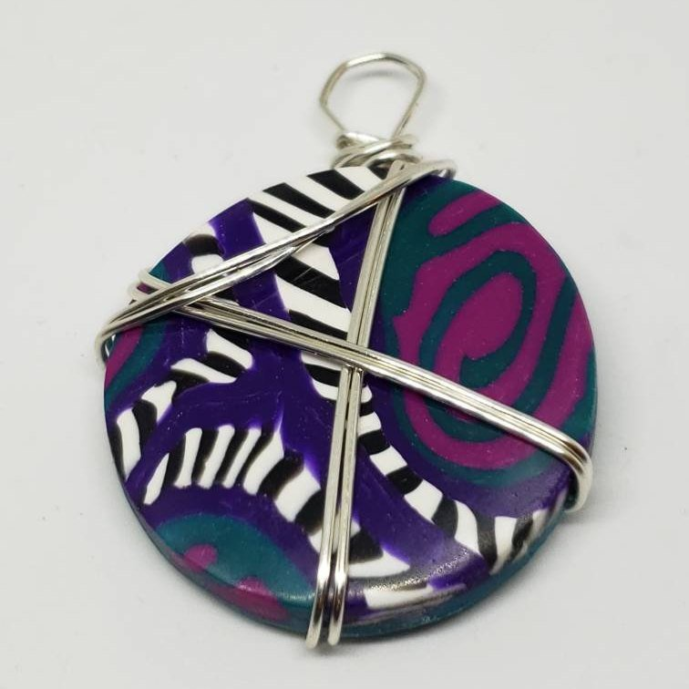Berry Swirl Wire Wrapped Pendant
