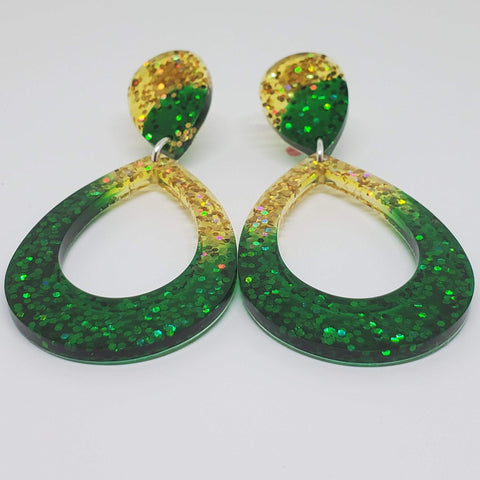 The Green and The Gold Earrings