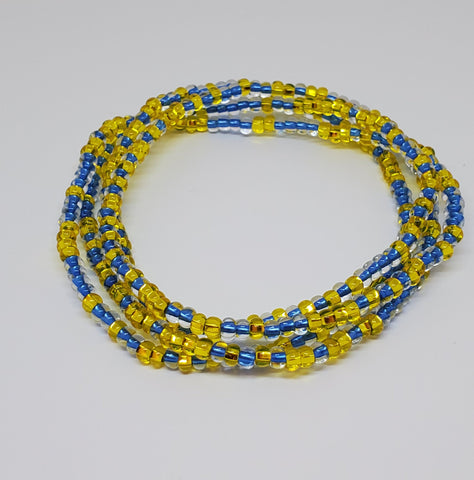 "Lemon-Berry 20 "" Hand Made Waist Beads, Waist Jewel,Energy Jewelry, Body Jewelry, Body Chains, Summer Jewelry, Belly Beads, African Inspired"