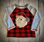 Buffalo Plaid Santa Shirt