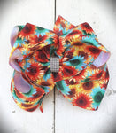 Aqua Sunflower Bow