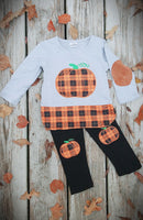 Plaid Pumpkin Set