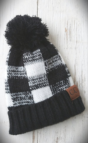 Black and White CC Beanie