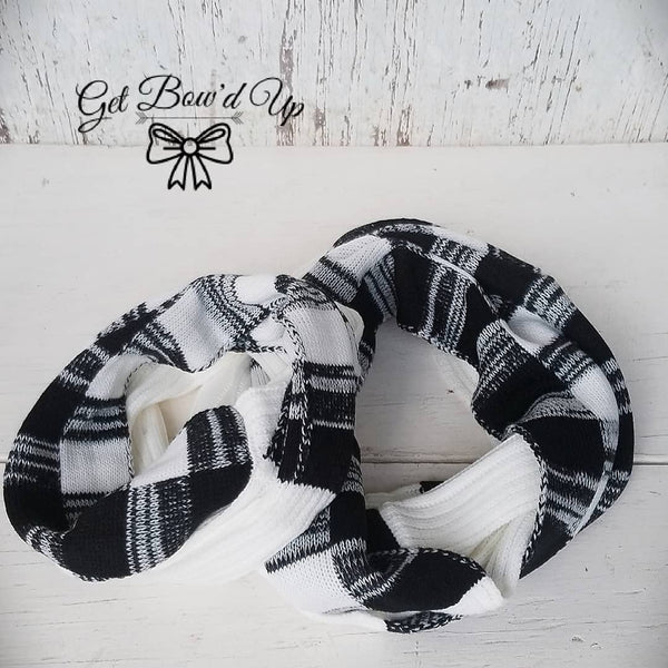 Black and White Kids Scarf