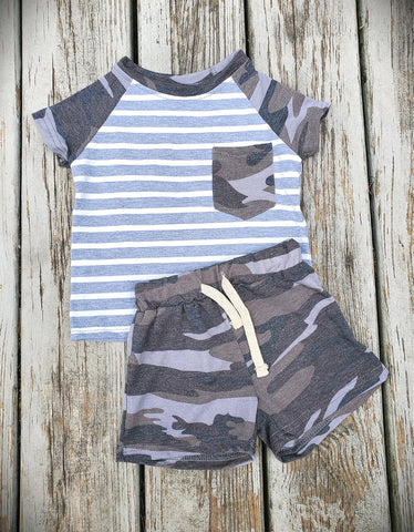 Camo & Striped Set