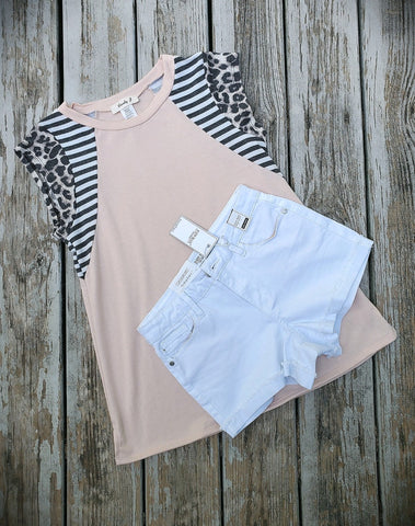 Peach and Stripes Top