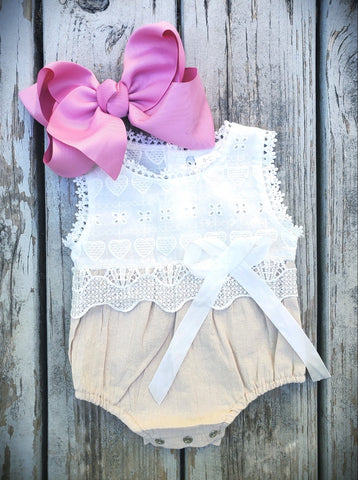 Linen and Lace Onsie