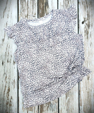 Cheetah Ruffle Shirt