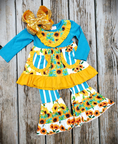 Striped Sunflower Set