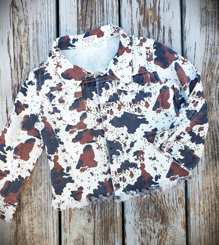 Cow Hide Jean Jacket