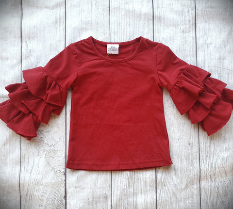 Cranberry Bell Sleeve Top