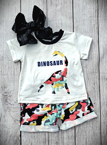 Dinosaur Short Set