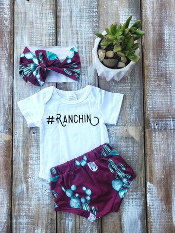 Ranchin Bummie Set