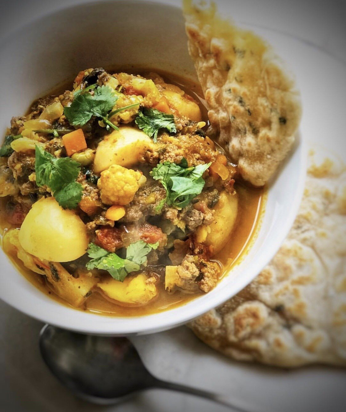 Cauliflower and Sweet Potato Curry (Vegan)