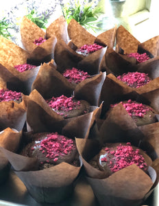 Paleo Chocolate Raspberry Cupcakes (4-pack)