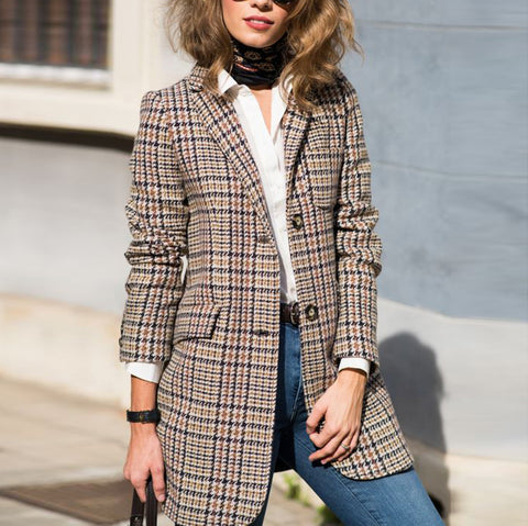 Women's Fashion Check Suit