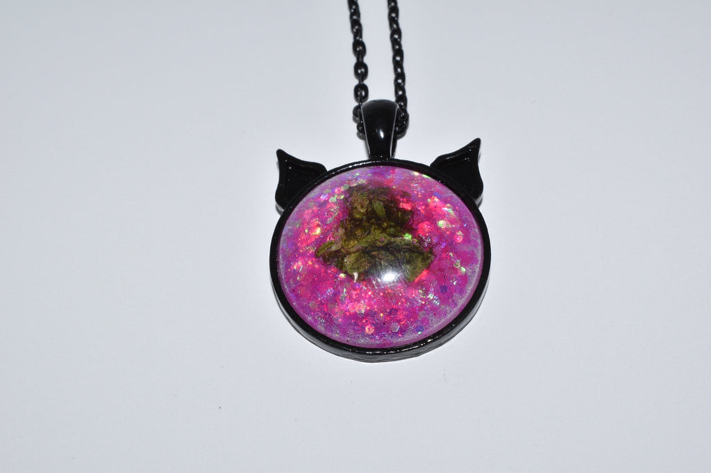 Pink Sugar Bud Kitten Necklace - Bud Kitten Jewelry