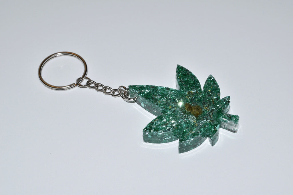 Baked Leaf Keychain