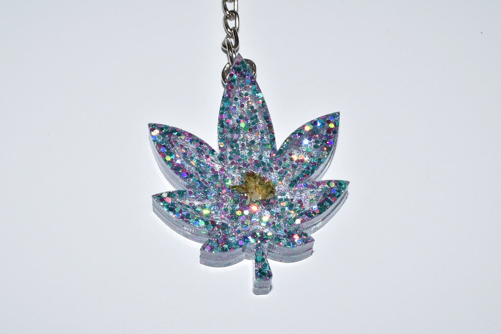 Sweet Leaf Keychain