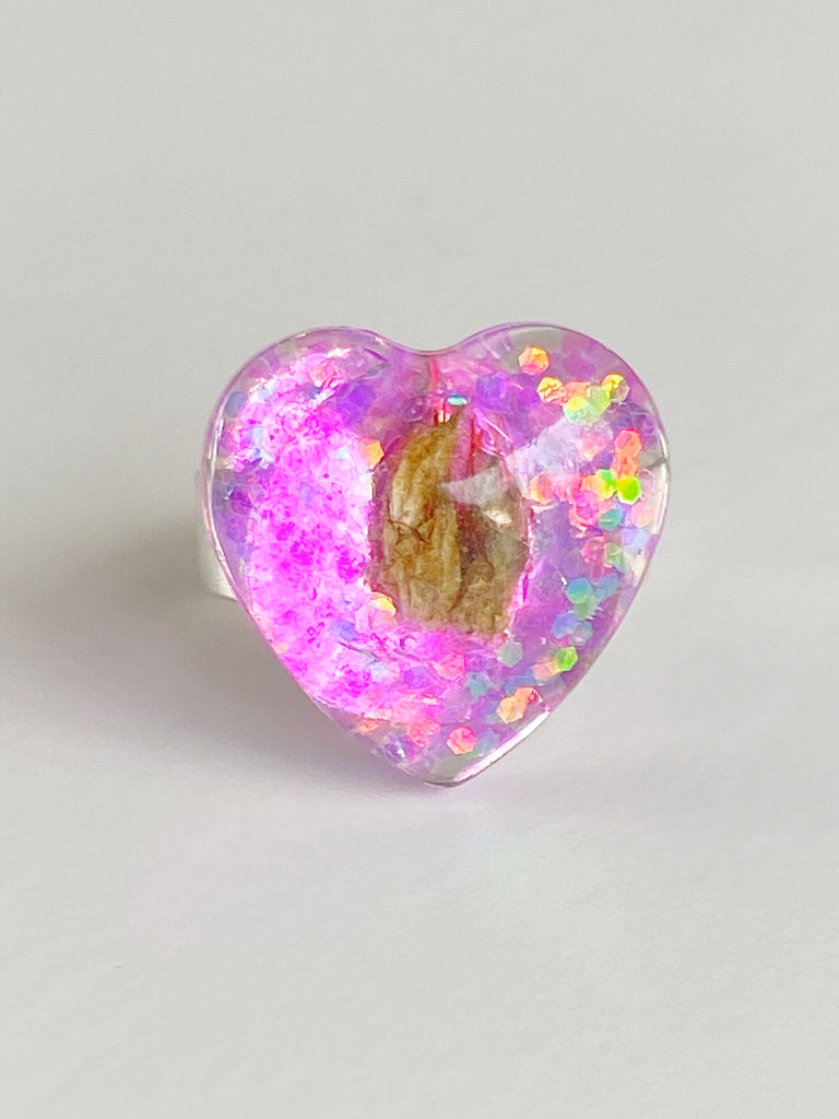 Jellybean Heart Ring