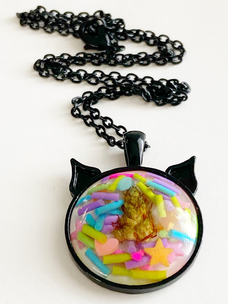 Candyland Bud Kitten Necklace