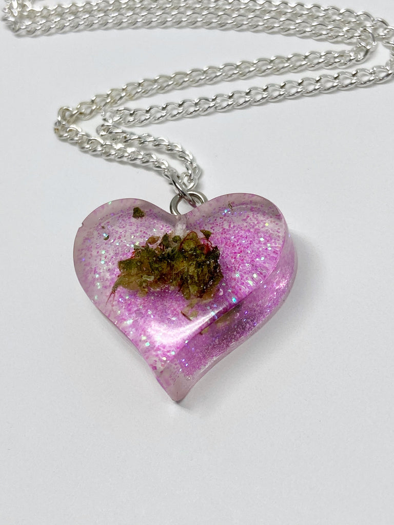 Pink Love Bud Necklace